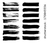 vector set of grunge brush... | Shutterstock .eps vector #170845556