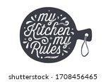 kitchen cutting board. kitchen... | Shutterstock .eps vector #1708456465