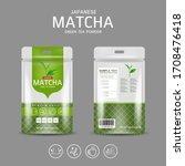 matcha green tea powder... | Shutterstock .eps vector #1708476418