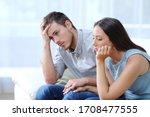 Sad Worried Couple Complaining...