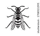 insect wasp  black wasp... | Shutterstock .eps vector #1708521595
