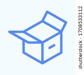 open carton box icon for...