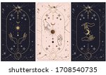 tarot card gold with chen and... | Shutterstock .eps vector #1708540735