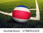 Costa Rica Flag On Ball At...