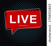 live streaming bubble bubble... | Shutterstock .eps vector #1708552825