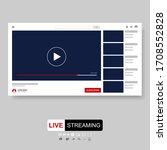 video player template design.... | Shutterstock .eps vector #1708552828