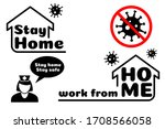 stay home stay safe label... | Shutterstock .eps vector #1708566058