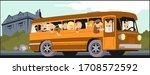 Stock Illustration. Bus Full Of ...
