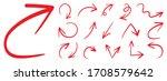 red arrows design vector. ... | Shutterstock .eps vector #1708579642