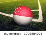 Singapore Flag On Ball At...