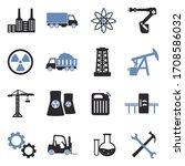 industry icons. two tone flat... | Shutterstock .eps vector #1708586032
