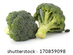 Broccoli Vegetable Isolated On...