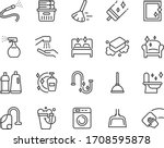 set of cleaning icons  washing  ... | Shutterstock .eps vector #1708595878