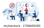 multiracial business people... | Shutterstock .eps vector #1708600285