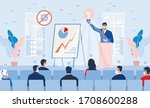 business seminar strategy idea. ... | Shutterstock .eps vector #1708600288