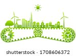 ecology concept and... | Shutterstock .eps vector #1708606372