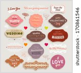 valentine's day and wedding set.... | Shutterstock .eps vector #170861546