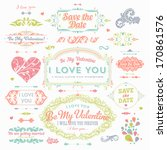 valentine's day and wedding set.... | Shutterstock .eps vector #170861576