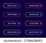 gradient neon buttons. button... | Shutterstock .eps vector #1708628692