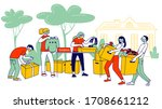 donation and charity during...   Shutterstock .eps vector #1708661212