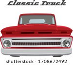 classic car on illustration...   Shutterstock .eps vector #1708672492
