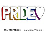 hand drawn colorful lettering...   Shutterstock .eps vector #1708674178