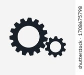 gear icon on white background....   Shutterstock .eps vector #1708675798