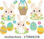easter bunny  blue  | Shutterstock .eps vector #170868158