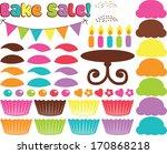 bake sale   cupcakes | Shutterstock .eps vector #170868218