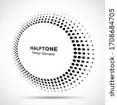 halftone circle perspective... | Shutterstock .eps vector #1708684705