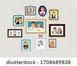 family frames set. people... | Shutterstock . vector #1708689838