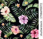Floral Exotic Tropical Seamless ...
