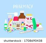 pile of drugs. medications...   Shutterstock . vector #1708690438