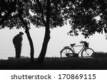 the man and bicycle | Shutterstock . vector #170869115