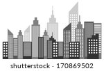 modern metropolis city... | Shutterstock .eps vector #170869502