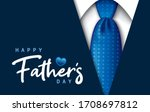 happy father's day greeting... | Shutterstock .eps vector #1708697812