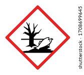 environmental hazard sign or... | Shutterstock .eps vector #1708699645