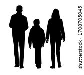 set of vector silhouettes of a... | Shutterstock .eps vector #1708705045