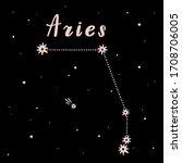 vector illustration of aries... | Shutterstock .eps vector #1708706005