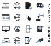 internet marketing icons. two... | Shutterstock .eps vector #1708708948