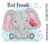 Greeting Card Cute Cartoon...