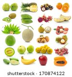 fruit collection isolated on... | Shutterstock . vector #170874122