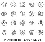 machine learning icon set.... | Shutterstock .eps vector #1708742785