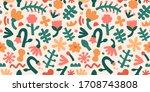 contemporary flower pattern ... | Shutterstock .eps vector #1708743808