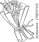 creating a gift bouquet step... | Shutterstock .eps vector #1708757125