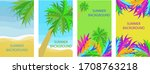 set of four backgrounds with... | Shutterstock .eps vector #1708763218