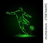 soccer striker  back view.... | Shutterstock .eps vector #1708766092