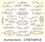 set of decorative elements for...   Shutterstock .eps vector #1708768918
