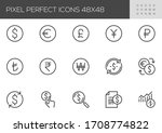 currency  vector line icons.... | Shutterstock .eps vector #1708774822