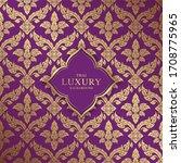 thai art luxury temple ...   Shutterstock .eps vector #1708775965